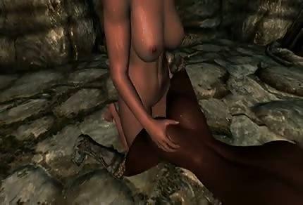 Animate porno nella grotta