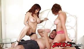 Meraviglioso sesso con Krissy Lynn e Alyssa Lynn nel triangolo divino