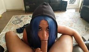 Gelato birichino per capelli blu