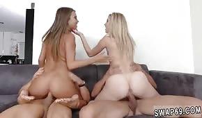 A quadrangolo con giovani femmine